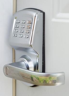 No key to lose with this door lock