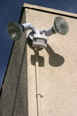 Home security lights with motion sensors