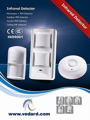 PIR detector, smoke sensor, door contact