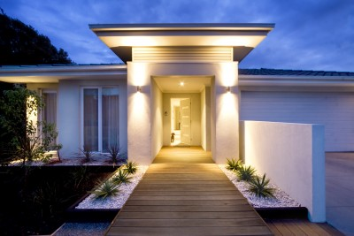 Good outside lighting will help scare off intruders