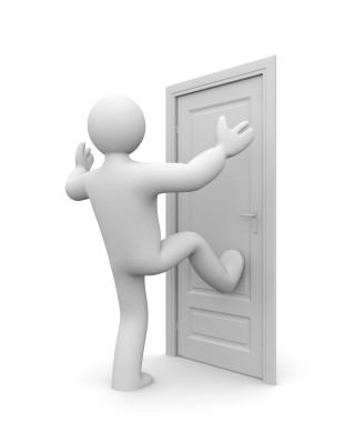 Kick in the door entry is most common