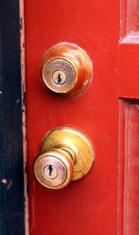Get a good dead bolt lock for your front door